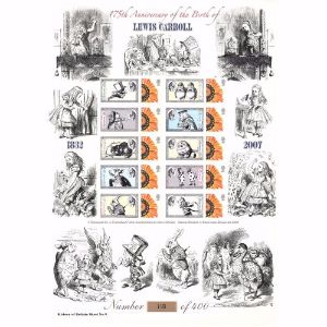 Lewis Carroll GB Customised Stamp Sheet - History of Britain No. 9