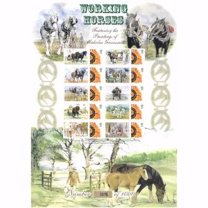 Working Horse Stamp Sheet  History of Britain 11