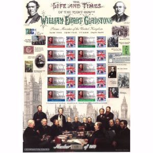 William Gladstone Stamp Sheet History of Britain 44