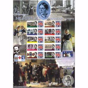 Florence Nightingale Stamp Sheet History of Britain 53