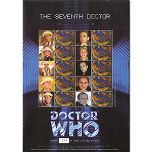 Doctor Who GB Customised Stamp Sheet - The Seventh Doctor