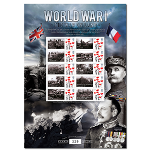 WWI The War on Land GB Customised Stamp Sheet