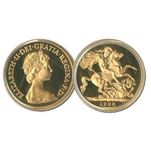 1980 Proof Gold Sovereign