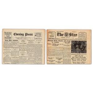 5 different War Time Channel Island Newspapers