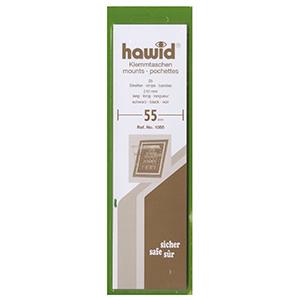 Hawid Mounts 55mm Black Strip (Per 25)