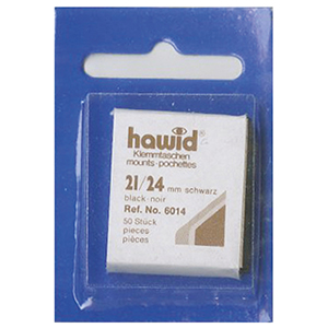 Hawid Mounts 21 X 24mm Black (Per 50)