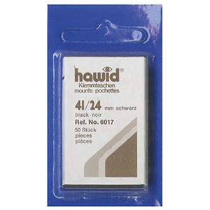 Hawid Mounts 41 X 24mm Black (Per 50)