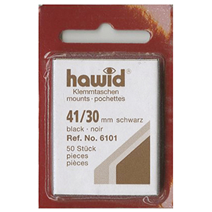 Hawid Mounts 41 X 30mm Black (Per 50)