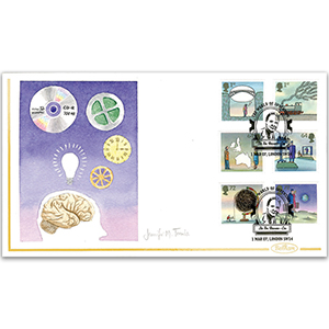2007 World of Invention Stamps Hand Painted Cover - Jennifer M. Toombs