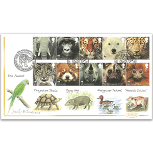 2011 WWF Stamps Hand Painted Cover