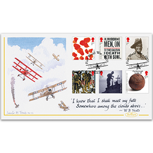 2015 WWI Stamps Handpainted Cover