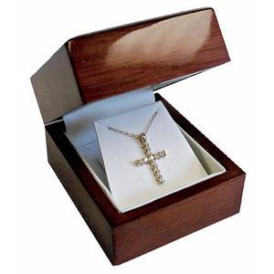 9ct Diamond Cross Pendant