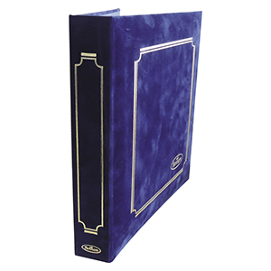 Royal Blue Suedell Benham Cover Album With Leaves