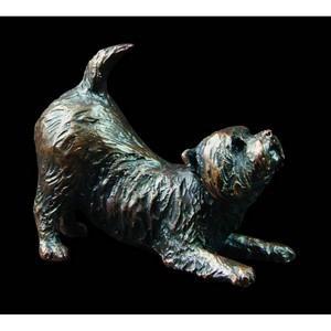 Richard Cooper & Company - Westie Stretching Bronze Figurine - Ltd Edt 150
