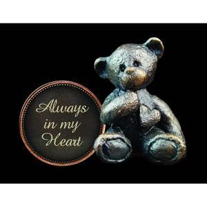 'Always in my Heart' Bronze Penny Bear Figurine - Michael Simpson