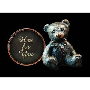 'Here for You' Bronze Penny Bear Figurine - Michael Simpson