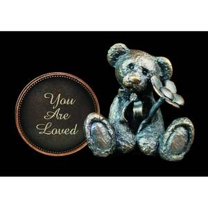 'You Are Loved' Bronze Penny Bear Figurine - Michael Simpson
