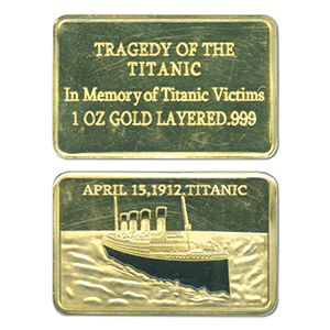 Titanic Gold Plated Ingot