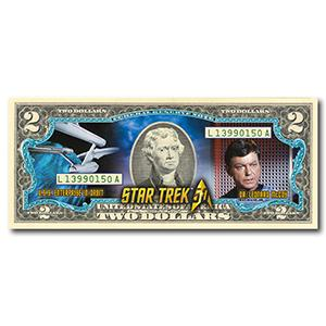Star Trek Dr McCoy $2 Bill