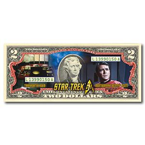 Star Trek Scotty Colourised $2 Bill