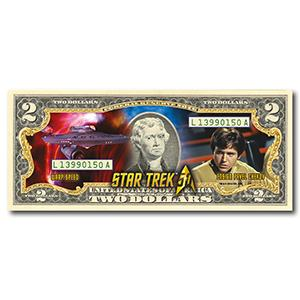 Star Trek Chekov Colourised $2 Bill