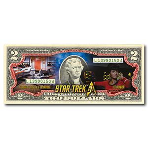 Star Trek Uhura Colourised $2 Bill