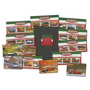 Ferrari Commemorative Stamp Sheet Collection - In Album