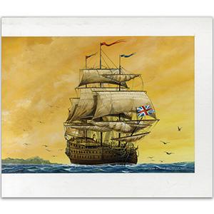 HMS Centurian by Gordon C Davies