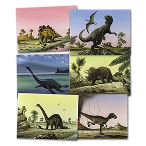 Six Dinosaur Drawings by Gordon C Davies