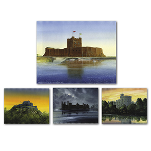 Four Castle Drawings by Gordon C Davies