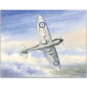Spitfire 19 sqn.  artwork by Kenneth C Aitken
