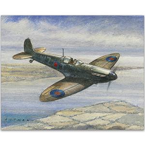 Spitfire  artwork by Kenneth C Aitken