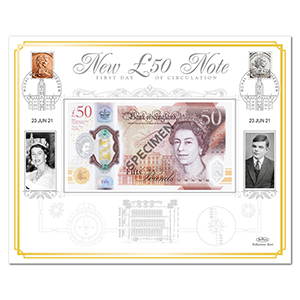 2021 New £50 Note Cover