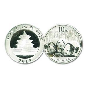 2013 $10 Yuan Silver Panda Coin