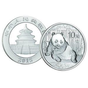 2015 $10 Yuan Silver Panda Coin