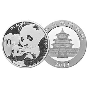 2019 $10 Yuan Silver Panda Coin