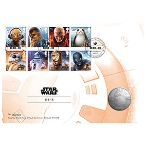 2017 Royal Mail Star Wars Medal Cover 1