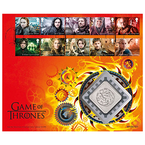 2018 Game of Thrones Stamps RM Medal Cover