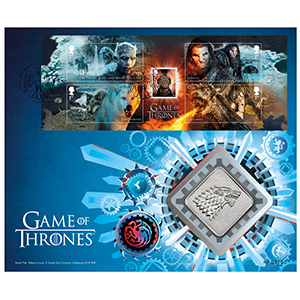 2018 Game of Thrones M/S RM Medal Cover