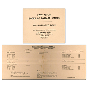 Post Office Advertisment Rates Booklet
