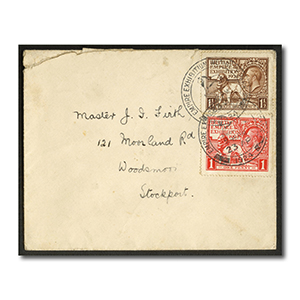 1924 Wembley pair, cds used on plain FDC. Slight tear at top, but a rare cover. SG430-31