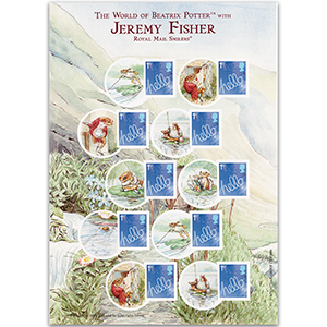 Royal Mail Smilers for Kids Jeremy Fisher A5 Stamp Pack - New