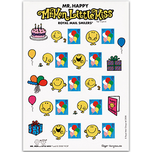 Royal Mail Smilers for Kids Mr. Happy A5 Pack - New