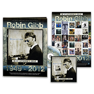 Isle of Man - Robin Gibb Special Stamp Folder