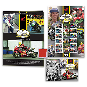Isle of Man-  Joey Dunlop Special Limited Edition Stamp Folder