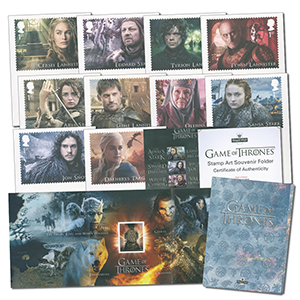 Game of Thrones Stamp Art Souvenir Folder