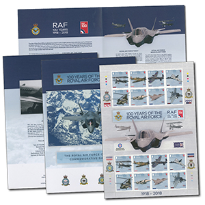 Isle of Man -  RAF Centenary Presentation Stamp Folder