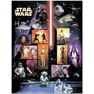 USA Star Wars 15x41c Commemorative Sheet
