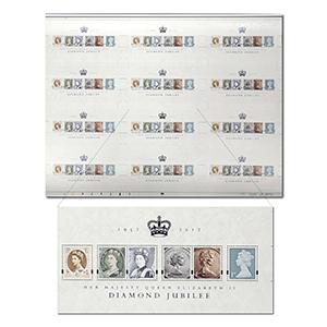 RM Queen's Diamond Jubilee M/S Press Sheet