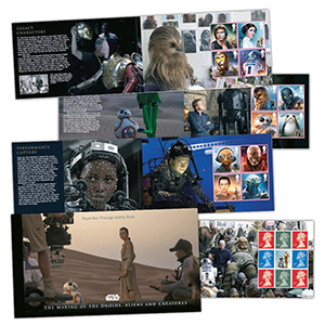 2017 Royal Mail Star Wars Limited Edition Prestige Stamp Booklet